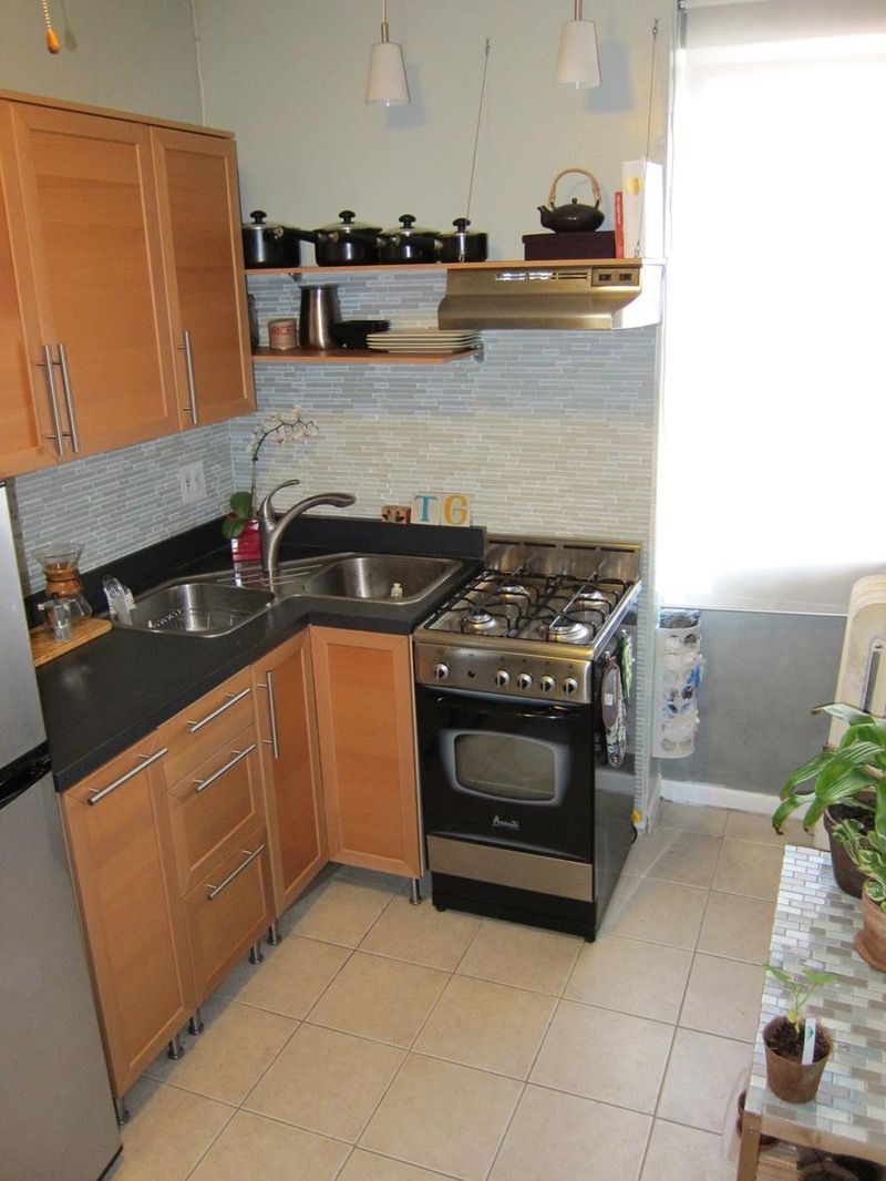 Tatiana S Tiny Kitchen In Her 300 Sq Ft Apartment Location North Bergen Nj Tiny House Kitchen Kitchen Design Small Small Kitchen Sink