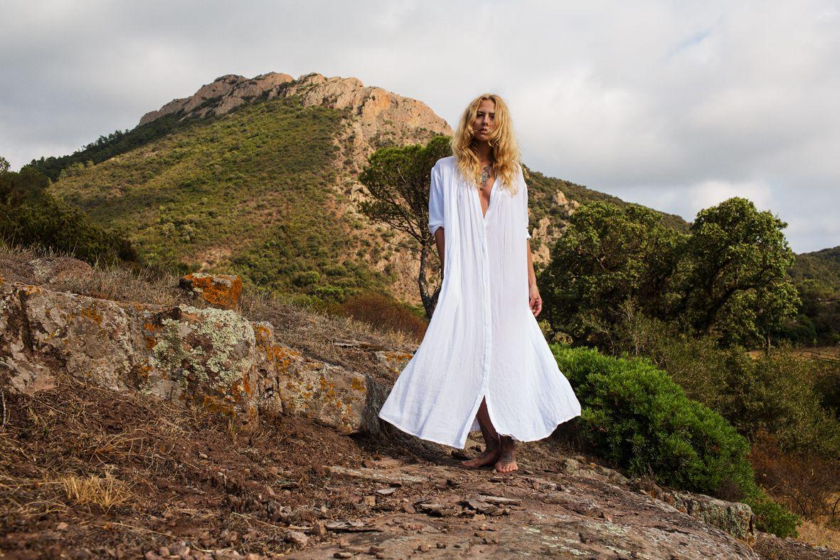 Loving this photo of the beautiful Sandra Jahn wearing the Kundalini Gown Original by Myrah Penaloza. Available at www.myrah.yoga