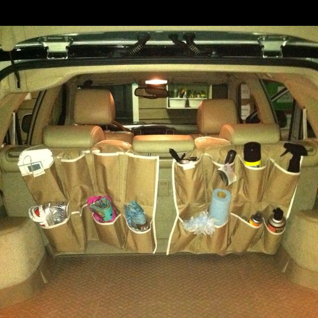 Trunk Organizer Made From Michael Kors Shoe Hanger From Target
