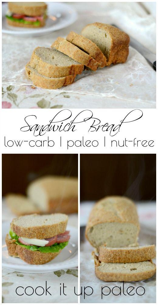 Baja en carbohidratos Sandwich Receta del pan |  Lo preparan Paleo