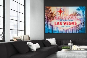 Hochwertiger Kunstdruck Las Vegas 120x80cm Wandbild Aus Glas Wandbilder Las Vegas Vegas