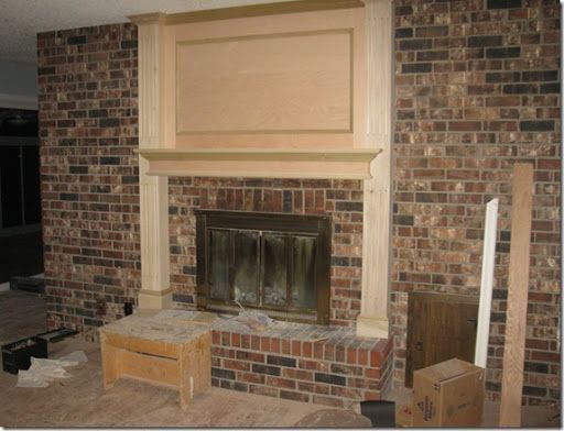 Large red brick fireplace makeovers fireplace makeovers - Red brick fireplace makeover ...