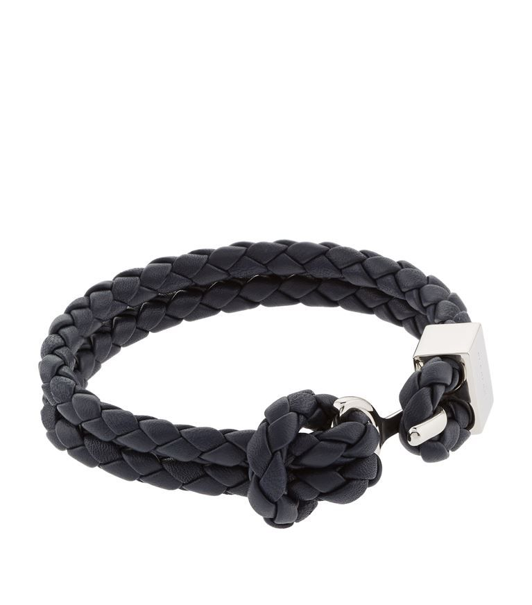 Burberry Braided Leather Bracelet Men Braids