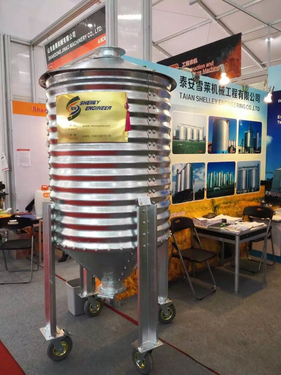 medium resolution of this is 1ton mini silo used for grain pellet or any other materials pellets this 1 ton mini silo is made of galvanized steel sheet and it s movable type