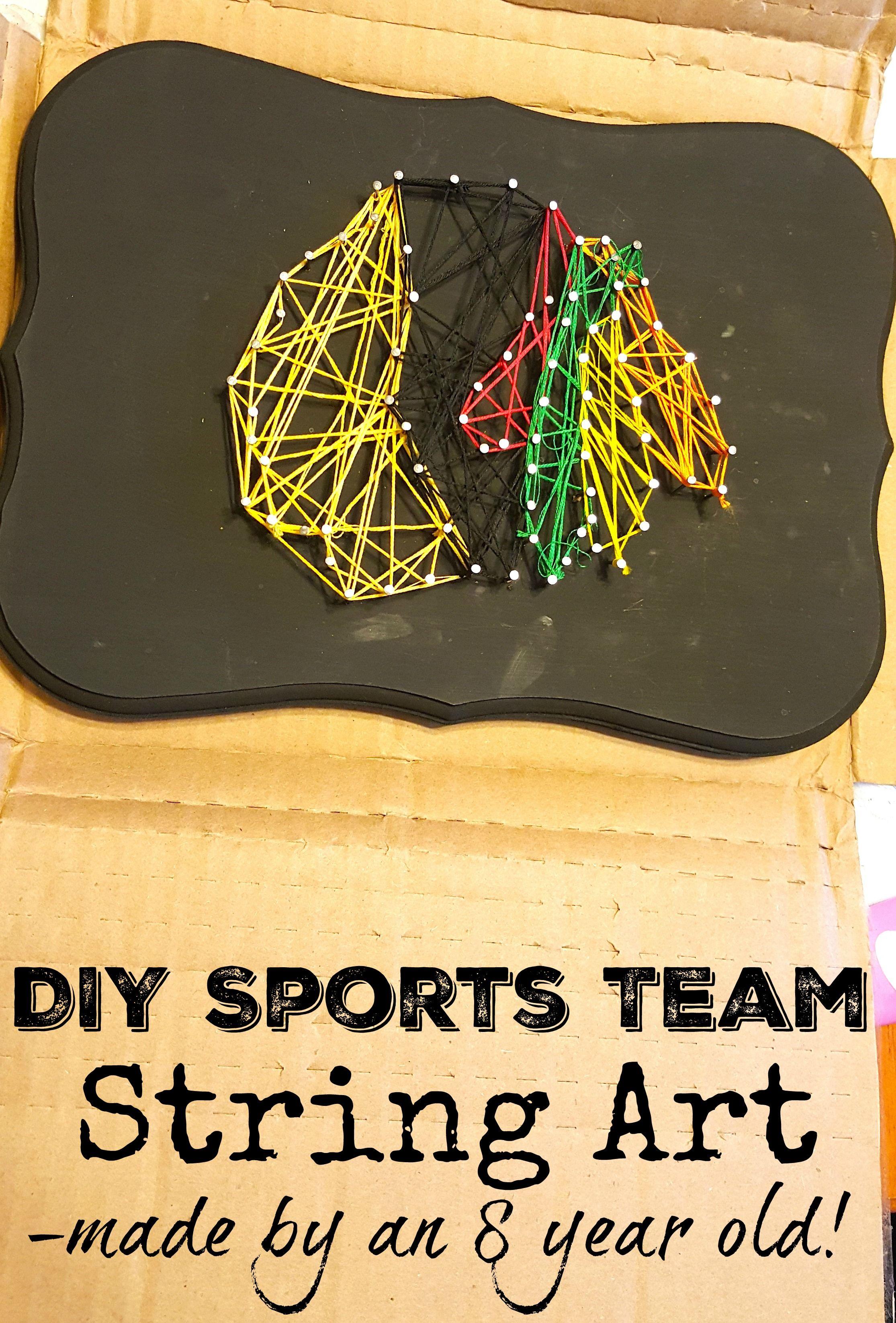 DIY Sports Team String Art Craft - Chicago Blackhawks | Chicago ...