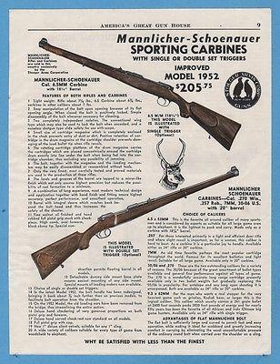 1974 Steyr Mannlicher 7mm Magnum Model S Rifle Print Ad W