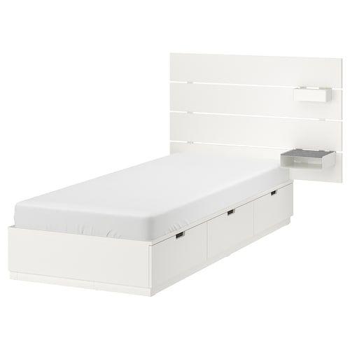 Nordli Struttura Letto Con Cassetti Bianco 90x200 Cm Ikea It In 2020 Bed Frame With Storage White Headboard Bed Frame