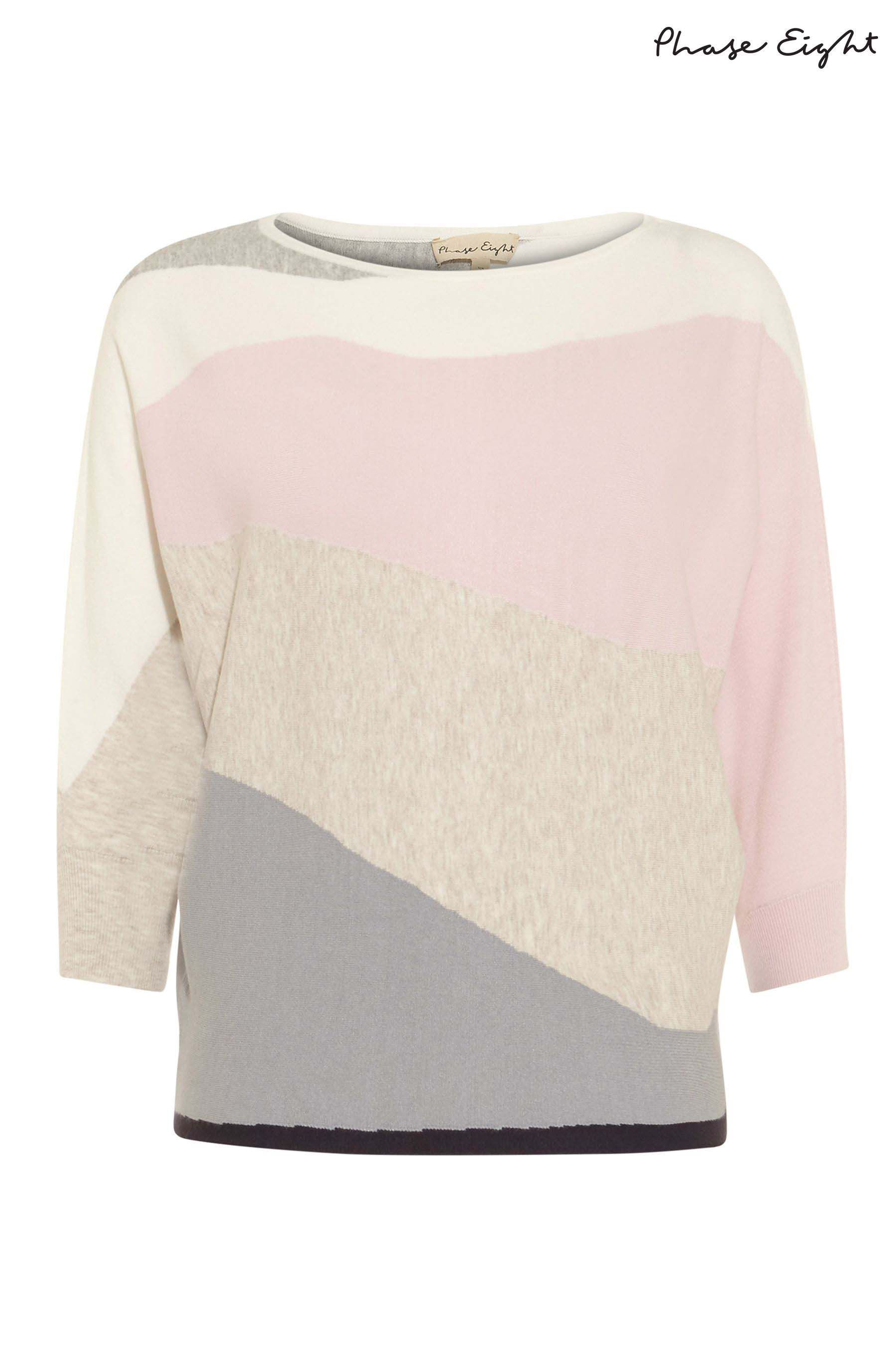 752814f5ff5 Womens Phase Eight Pink Lorrie Intarsia Knitted Jumper - Pink ...