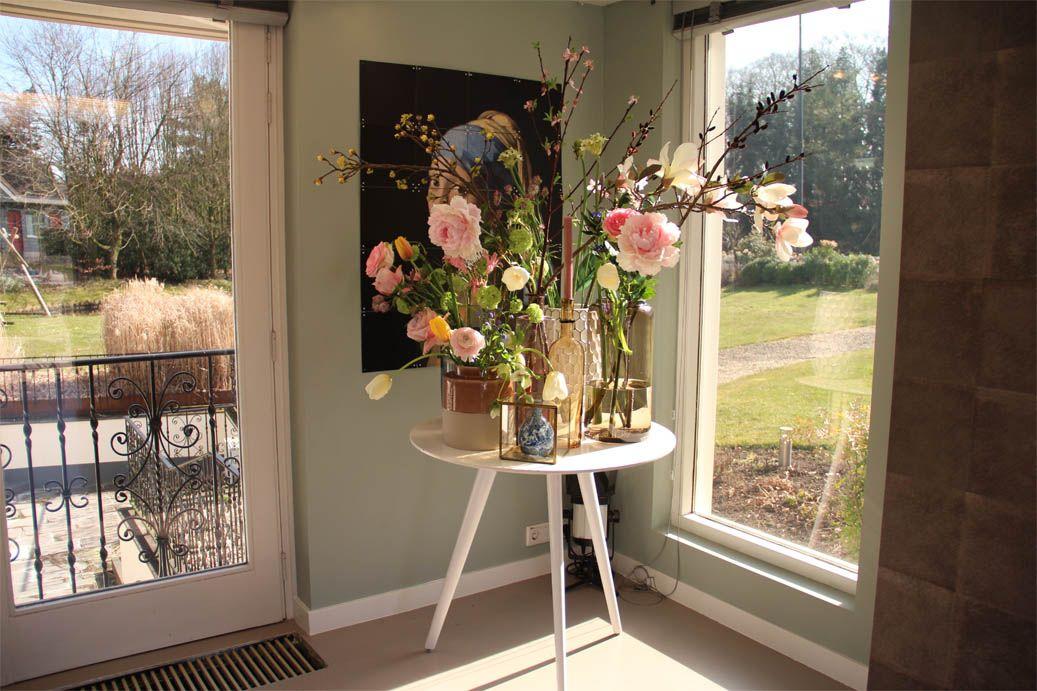 Een gezellig hoekje bloemen & Het Melkmeisje - Interieur ...