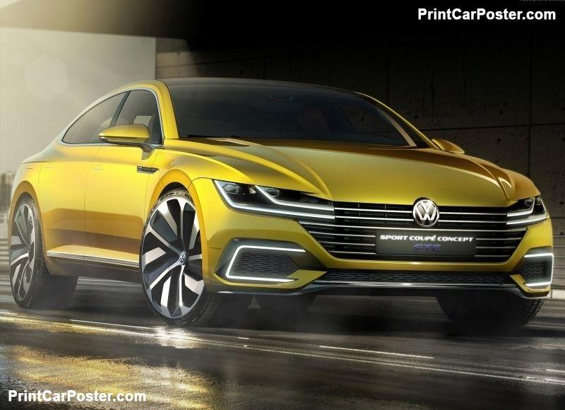 Volkswagen Sport Coupe GTE Concept 2015 poster Concept