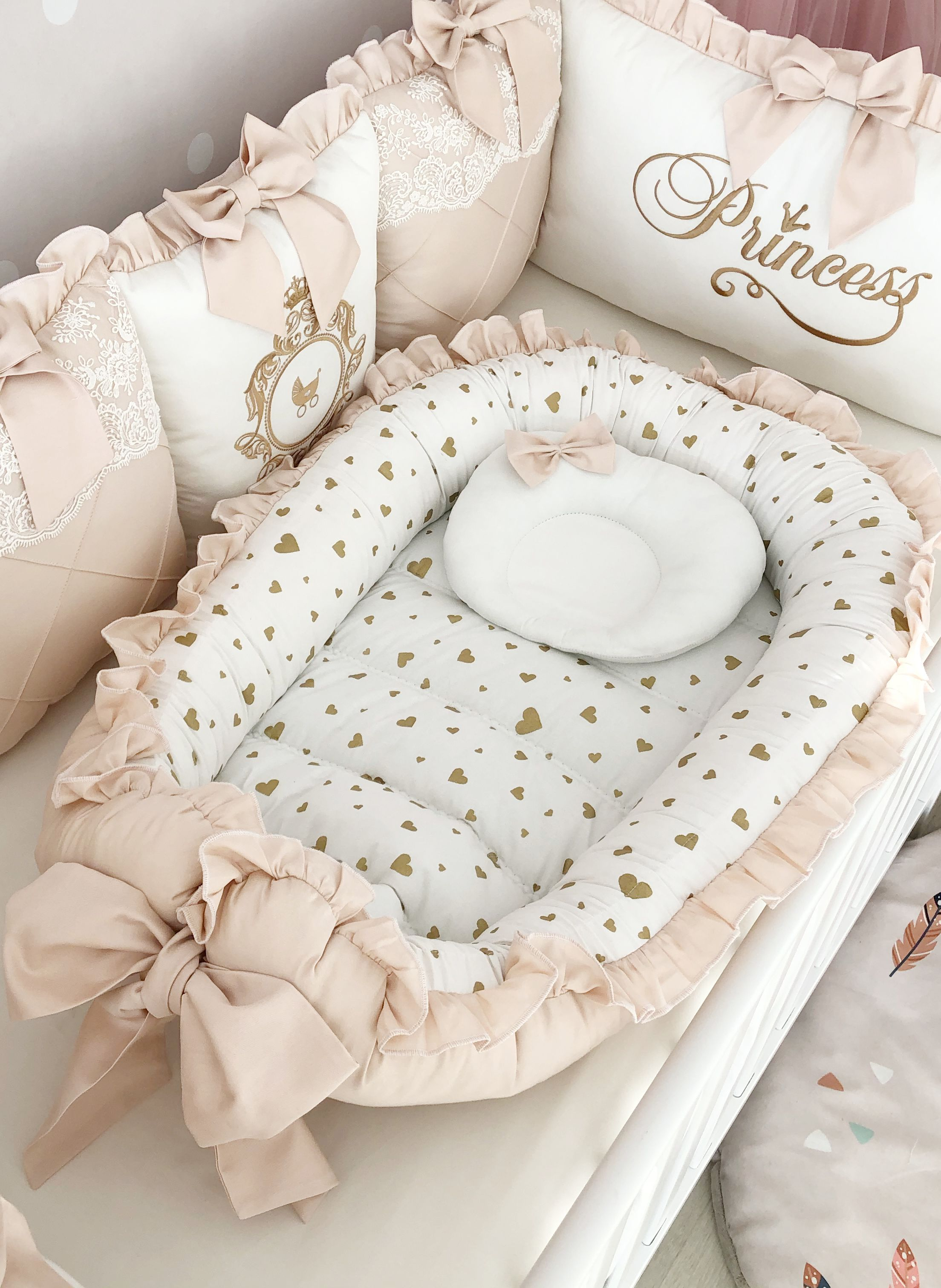 Baby Pillow Set : pillow, Girl:, Bumper, Pillow, Blanket,, Canopy, Sheet, Bedding,, Bedding, Girl,