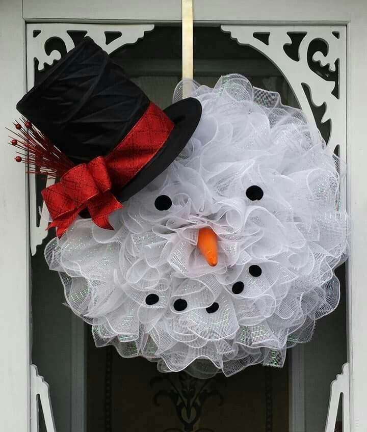 Snowman Wreath From Adas Wreaths Things