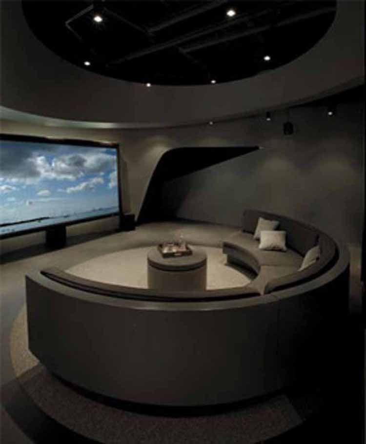 Round Sofa Modern Lounge Design 580x704 Futuristic
