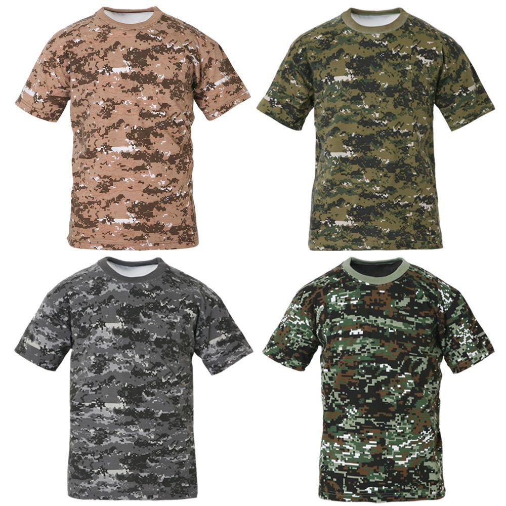 Mens Military Tactical Digital Camoflage T Shirts Army Combat Uniform Tee  XS XL  11f6d1d9ee7d