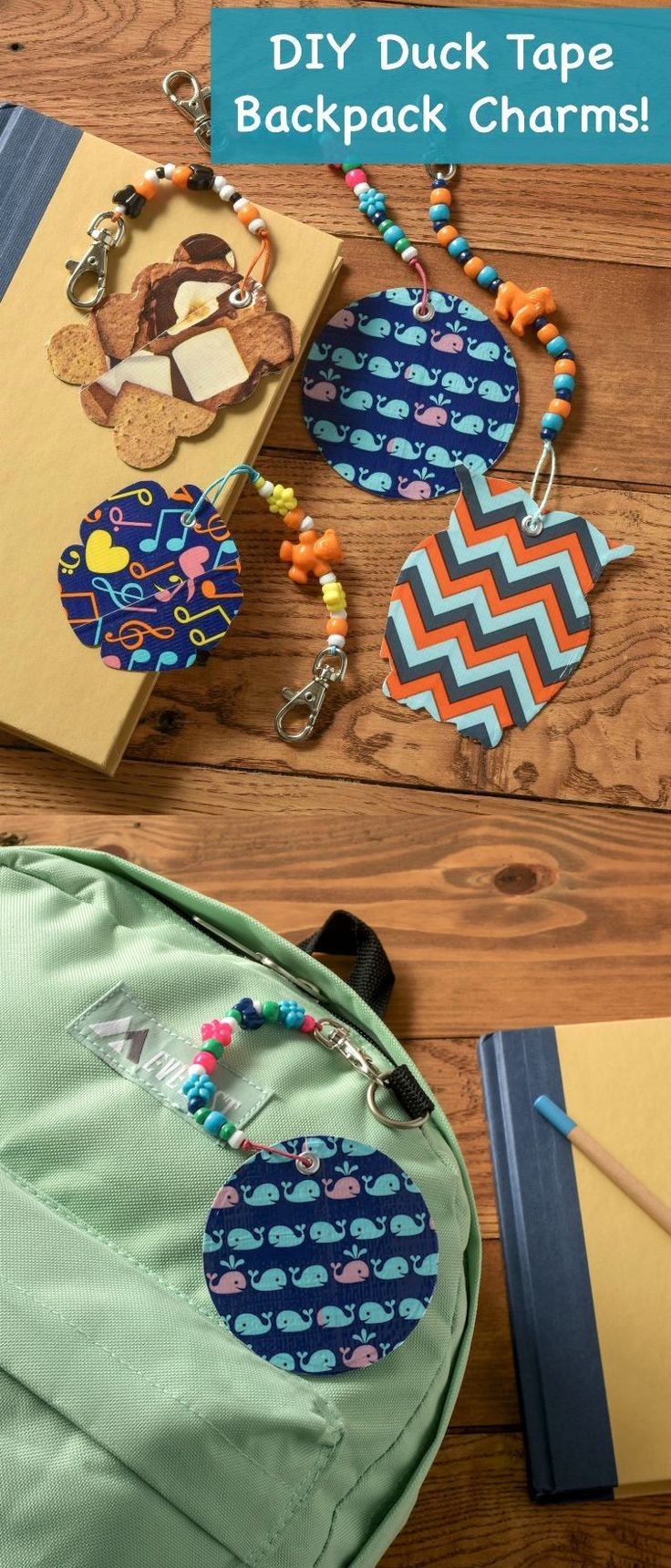 how to make cool backpack charms with duck tape dollar store