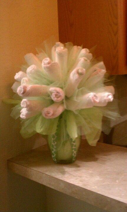 My DIY Diaper flower bouquet. | DIY | Baby shower crafts ...