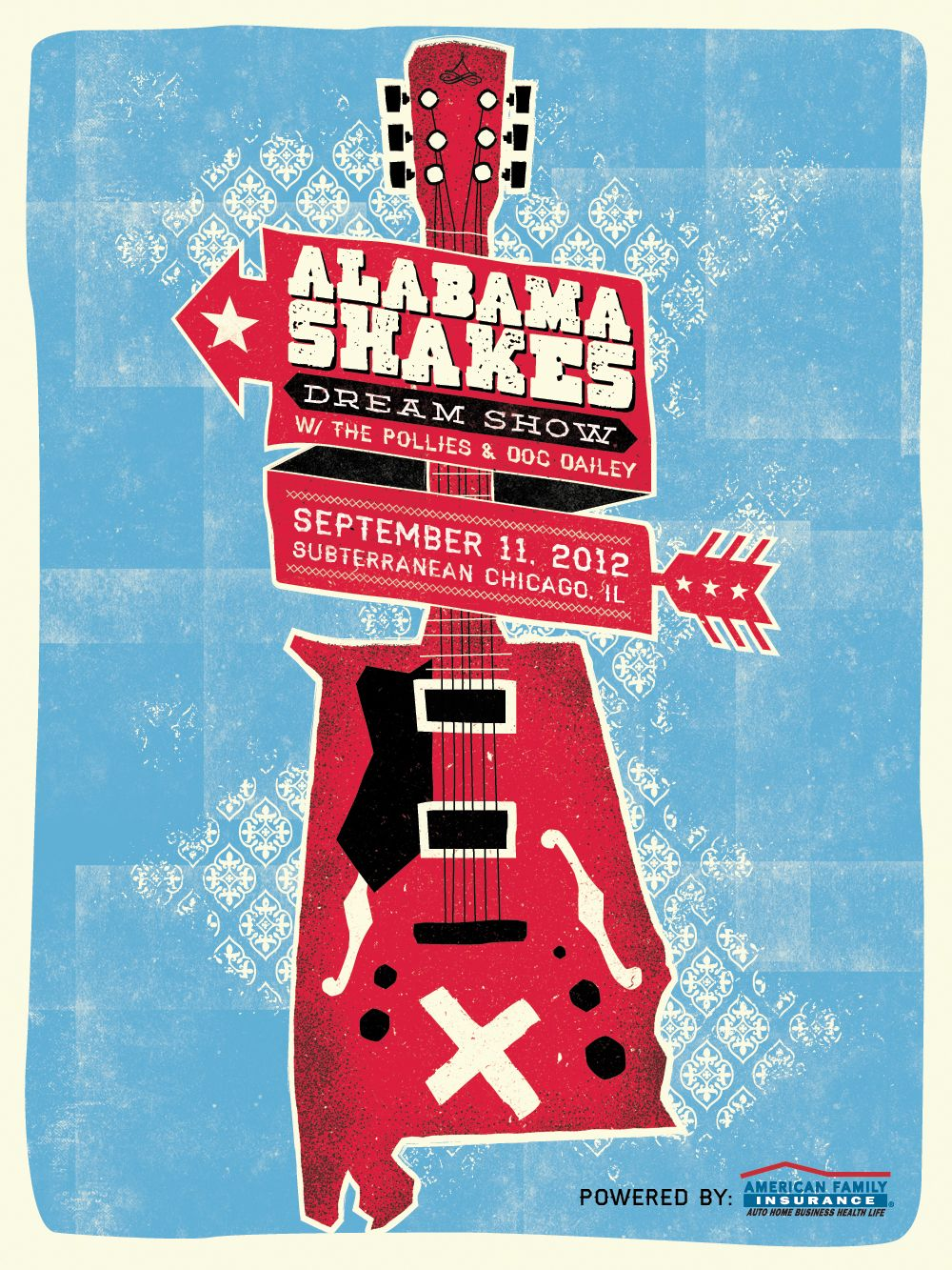 Alabama Shakes Poster Sxsw Poster Vintage Music Posters Gig Posters