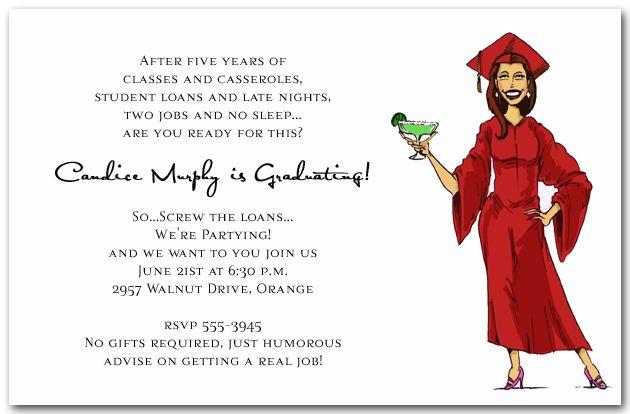 girl graduate  u0026 margarita invitation