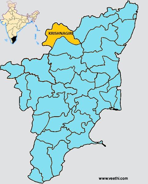Krishnagiri district map tamil nadu district maps pinterest krishnagiri district map gumiabroncs Image collections