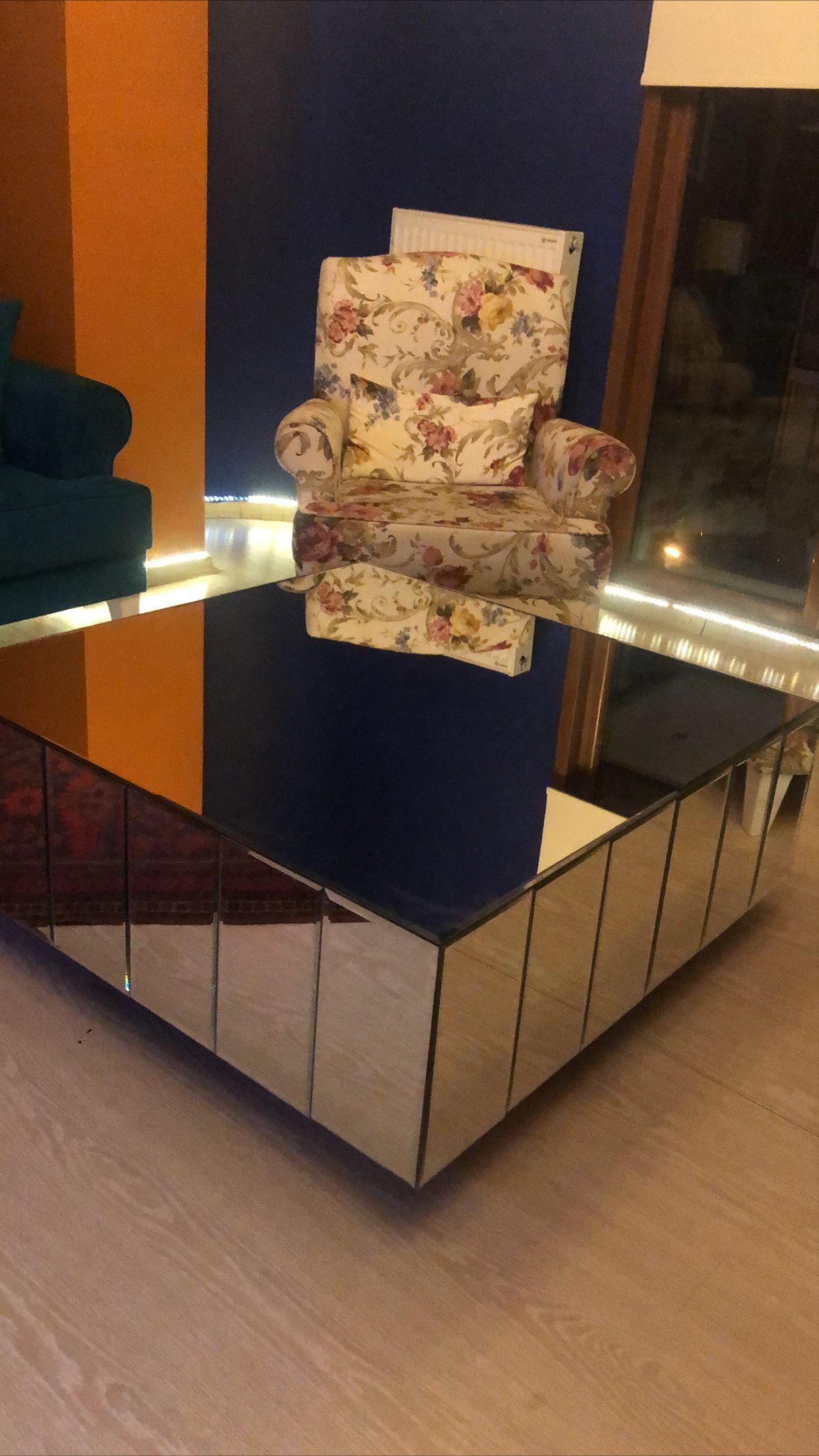 Aynalı Orta Sehpa  #luxury #coffeetable #sehpa #homedecor #evdekoru #evaksesuar