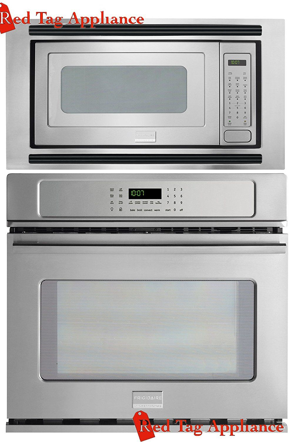 Amazon Com Bundle 3 Items Frigidaire Professional 3 Piece 27 Stainless Steel Electric Wal Wall Oven Microwave Electric Wall Oven Wall Oven Microwave Combo