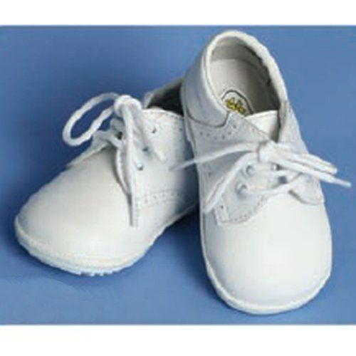 Baby Boy White Christening Wedding Shoes White Satin Oxford Shoes