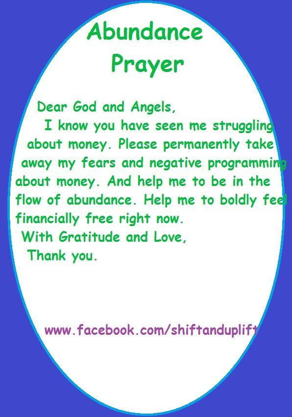 Abundance and money prayer   Prayers and Affirmations