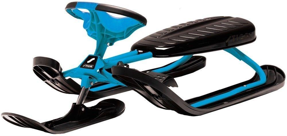 Nartosanki Stiga SNOWRACER Royal Blue. Solidne nartosanki firmy Stiga, posiadają certyfikaty bezpieczeństwa CE, GS. #nartosanki #sportyzimowe