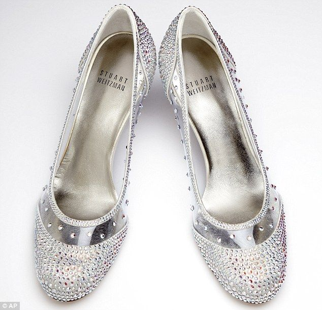 bd842e98754 Footwear fit for a princess! Cinderella's glass slippers are given a ...