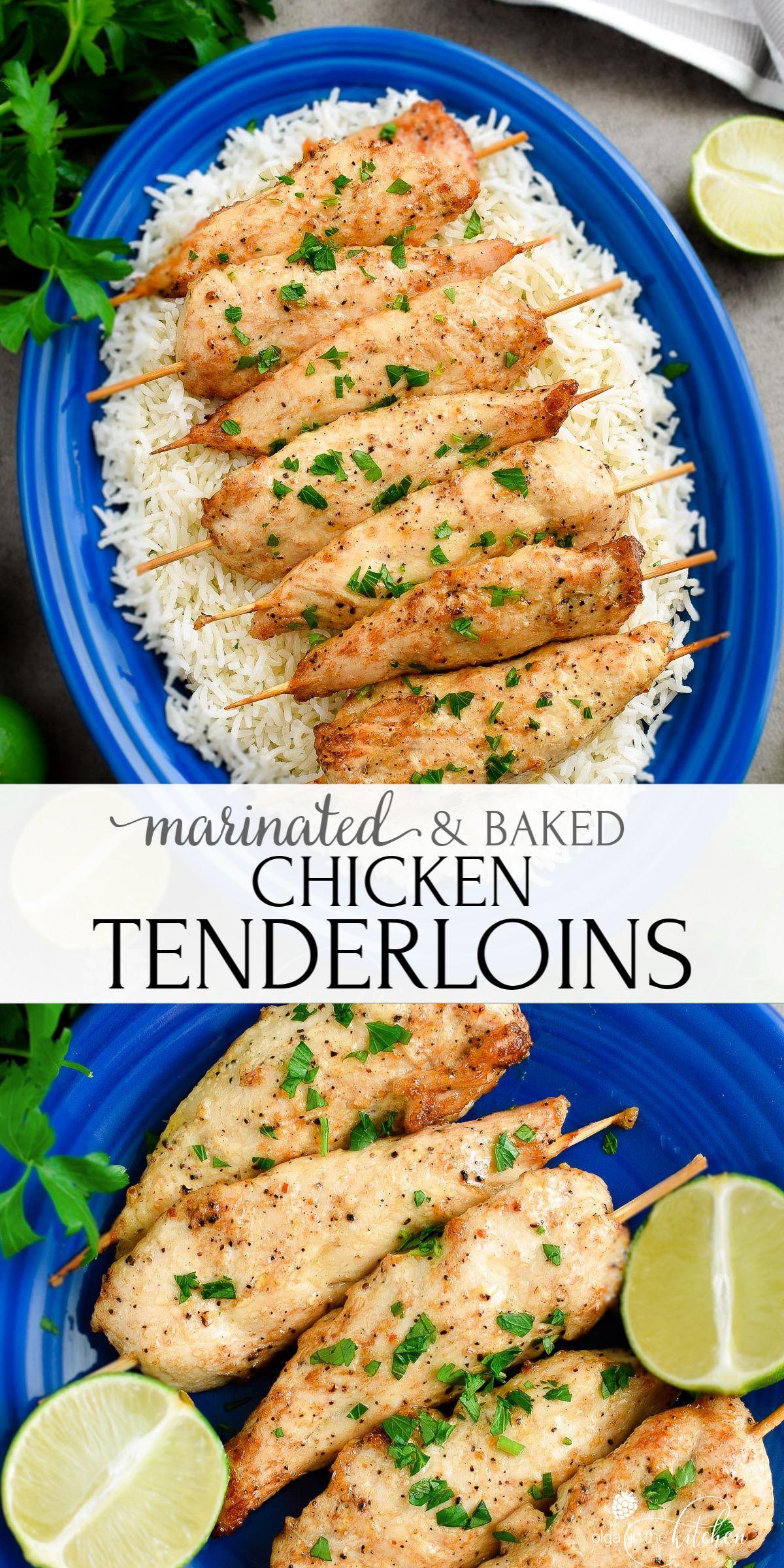 Marinated Baked Chicken Tenderloins Video Olga In The Kitchen Recipe In 2020 Baked Chicken Tenderloins Chicken Tenderloin Recipes Chicken Tenderloins