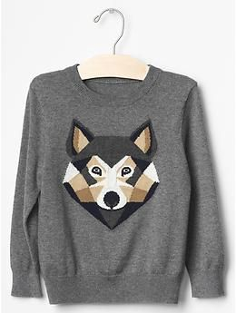 9e5c74210 Intarsia wolf sweater | Gap | Baby Clothes & Accessories | Baby kids ...