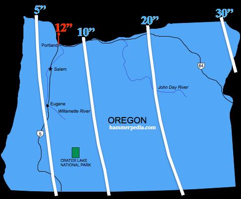 Oregon-Frost-Line-Map | New House Ideas-Ned | Oregon, Portland city ...
