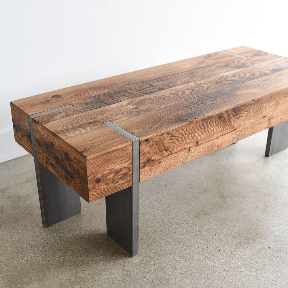 Modern Reclaimed Wood Coffee Table - WHAT WE MAKE