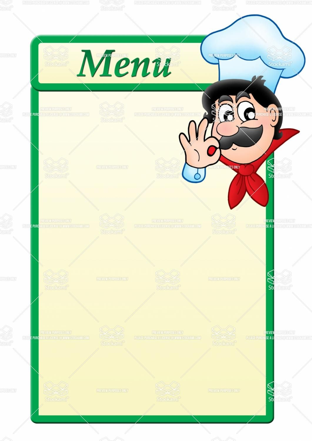 Stock image menu template with cartoon 1 061 for Menue templates