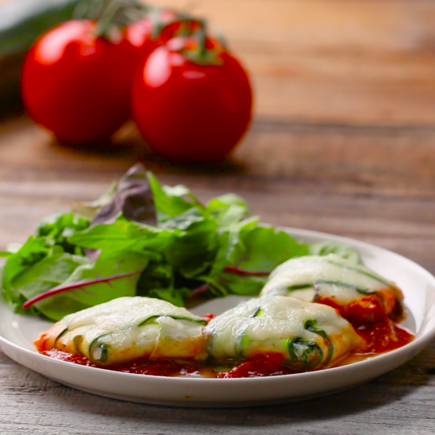 Low-Carb Zucchini Ravioli #lowcarbyum