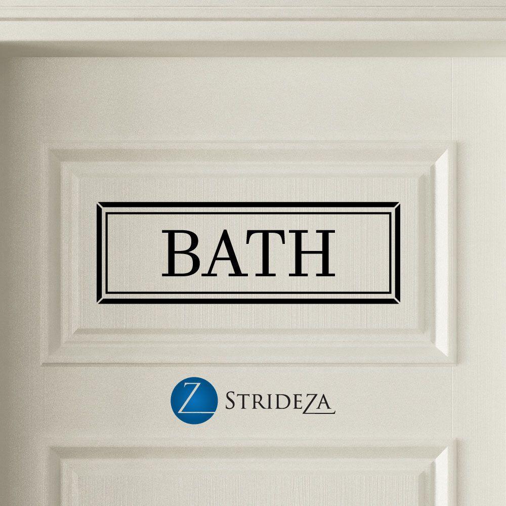 Bath door decal bath sign bath decor bath decal bathroom decor