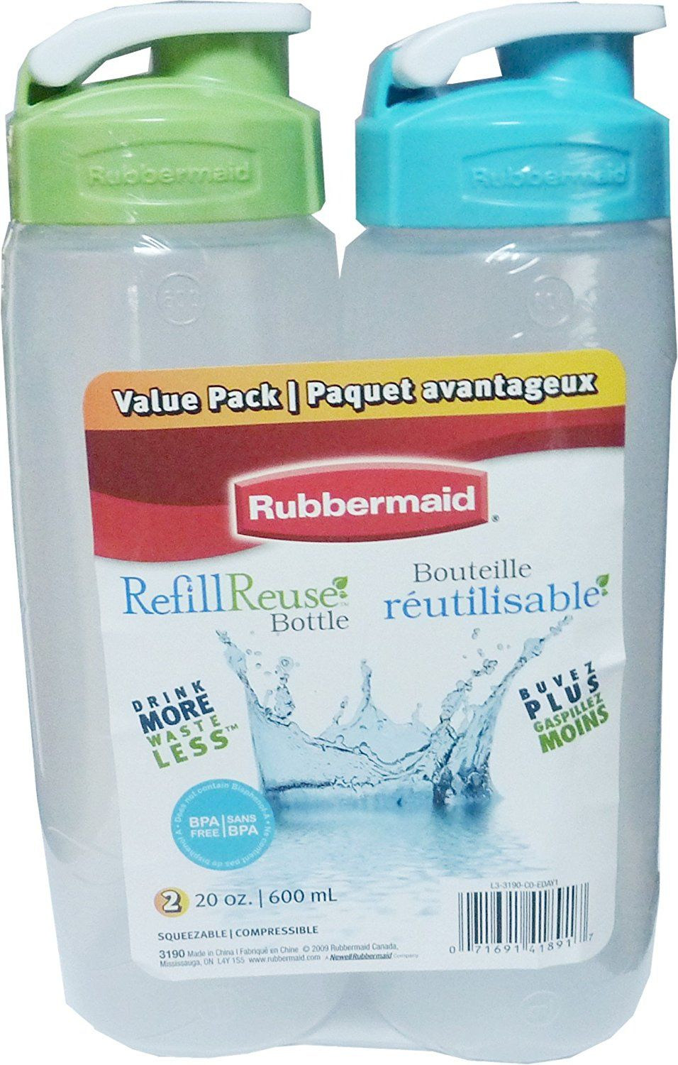 Rubbermaid 20oz Chug bottle (Pack of 2) ** This is an Amazon ...