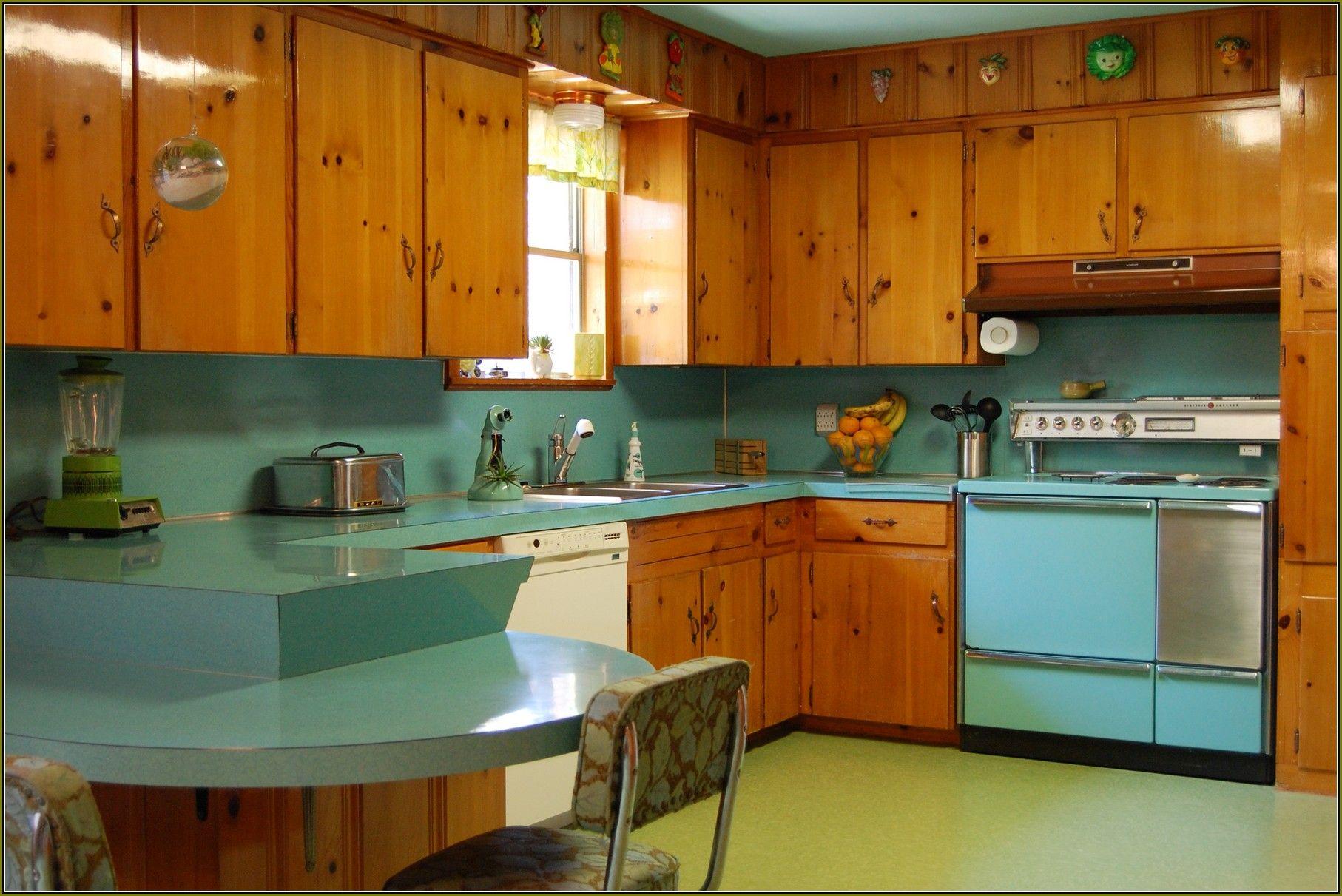 Vintage Knotty Pine Kitchen Cabinets  Vintage Kitchen in