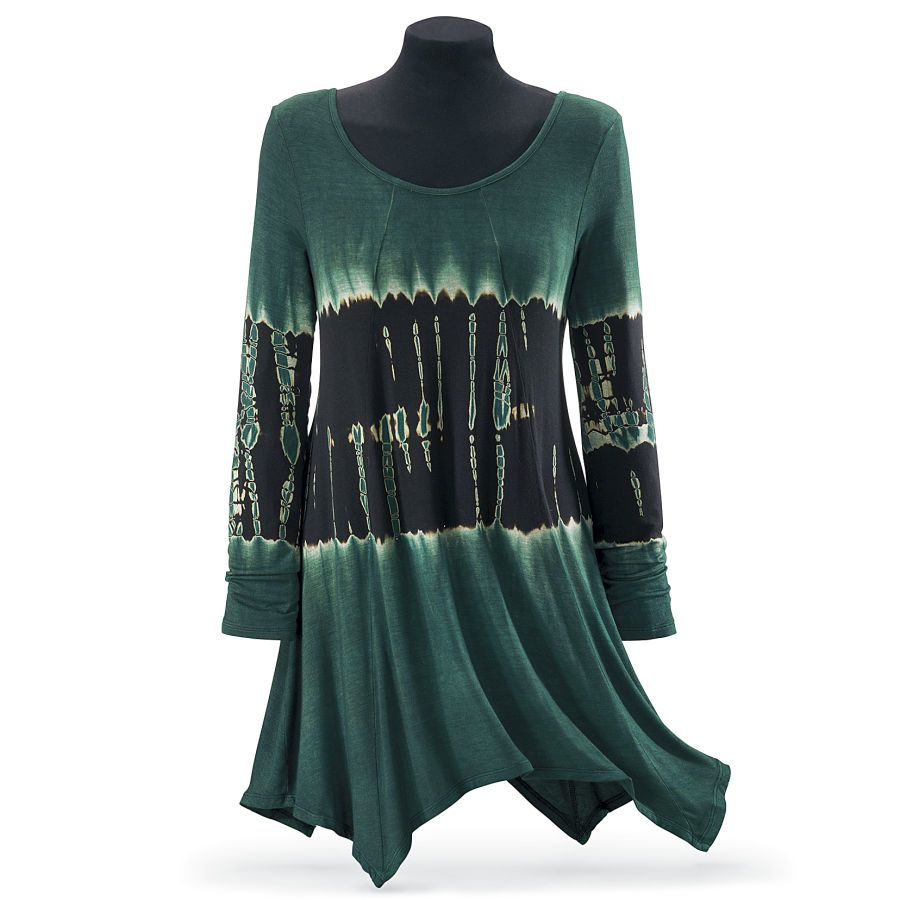 Forest Tie Dye Tunic New Age Spiritual Gifts Yoga
