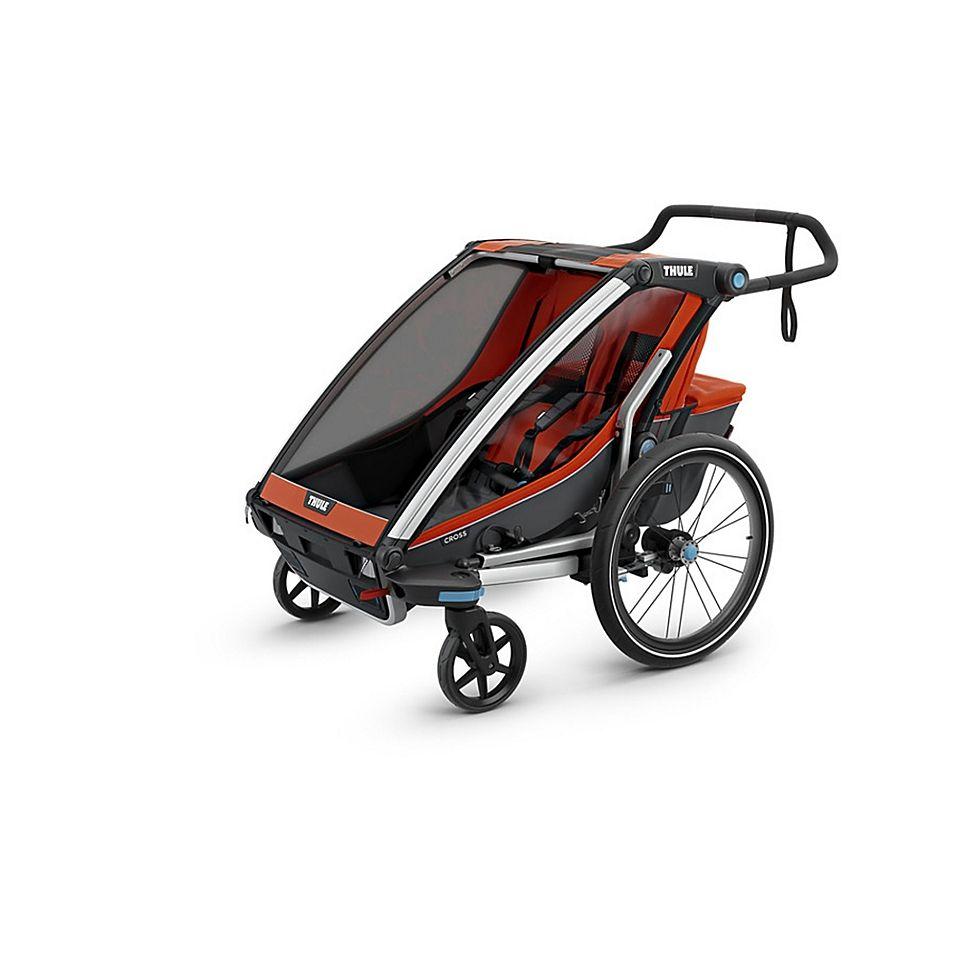 Thule Chariot Cross 2 Multi Sport Double In Red Orange Thule
