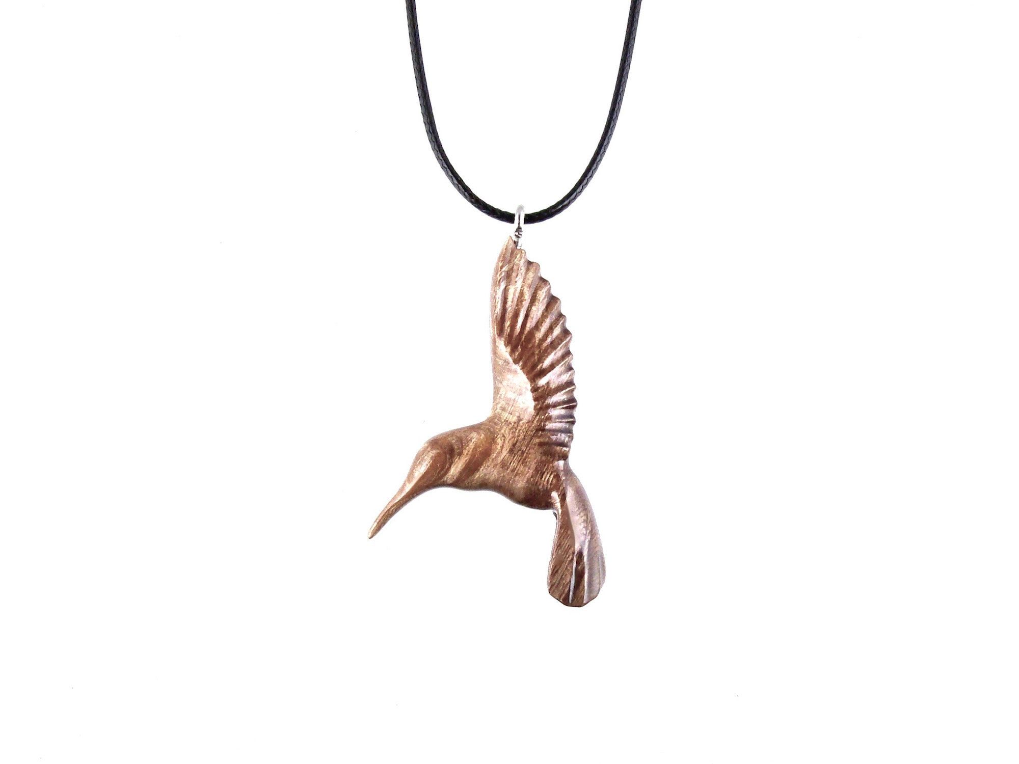 Hummingbird necklace bird jewelry nature art pendant bird necklace hummingbird resin pendant copper or silver necklace gift idea for her