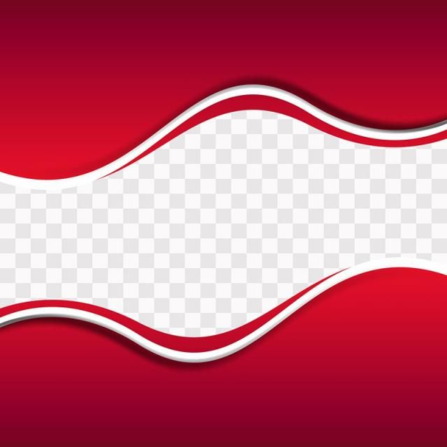 Red Wavy Shapes On Transparent Background Red Background