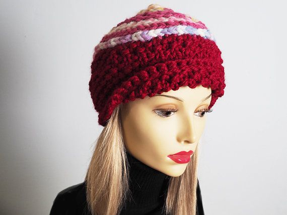 77f1aba9506 Handmade red   pink cloche hat Valentine hat by TheMastHatter ...