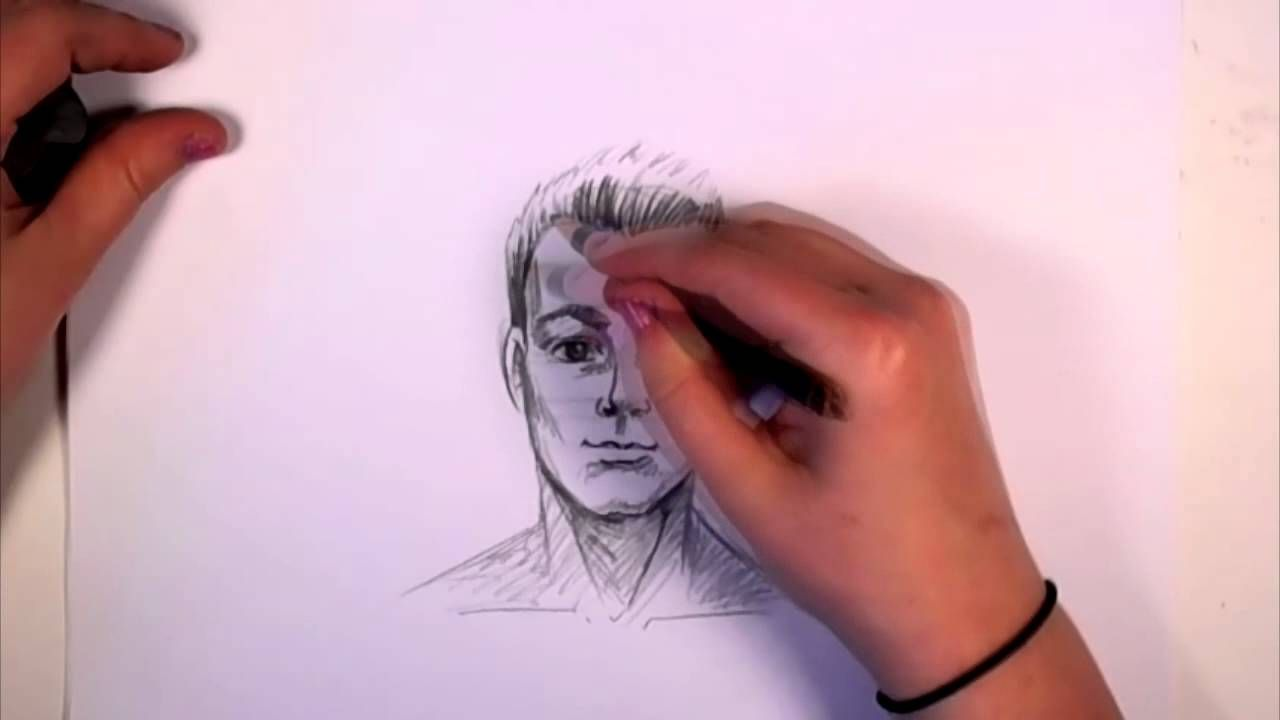 How To Draw A Man Face With Pencil Cc Piirustuskoulu  Howtodrawfacesforkidsstep3_1_000000125313_5