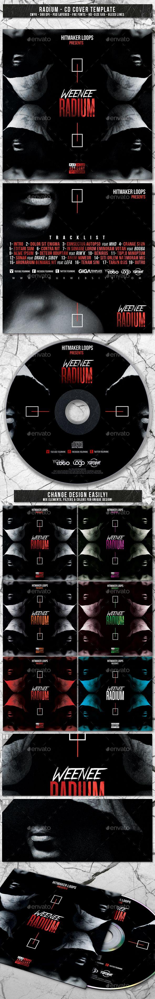 radium album cd mixtape cover template fonts logos icons
