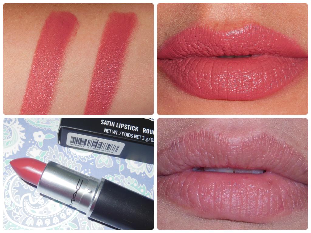 MAC pink lipsticks on Latinaolive skin