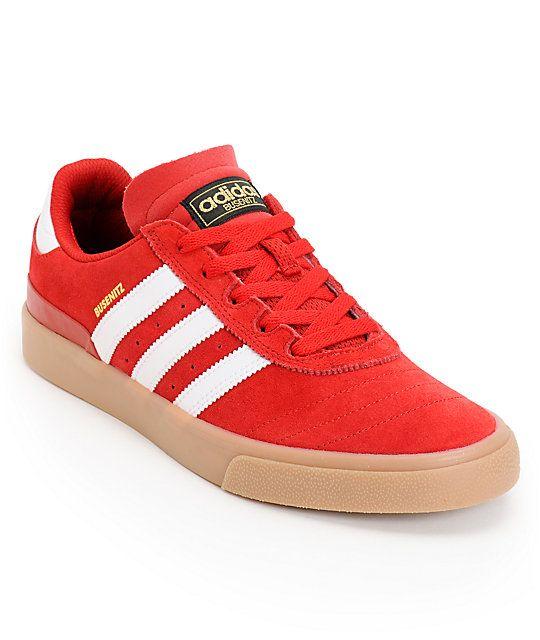 adidas Busenitz Vulc Red, White, & Gum Skate Shoe, $70 | The Shoe ...