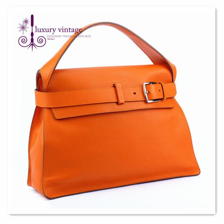 HERMES Etribelt Orange Very Good Condition Ref.code-(BVLSU-2) More Information Pls Email  (- luxuryvintagekl@ gmail.com )