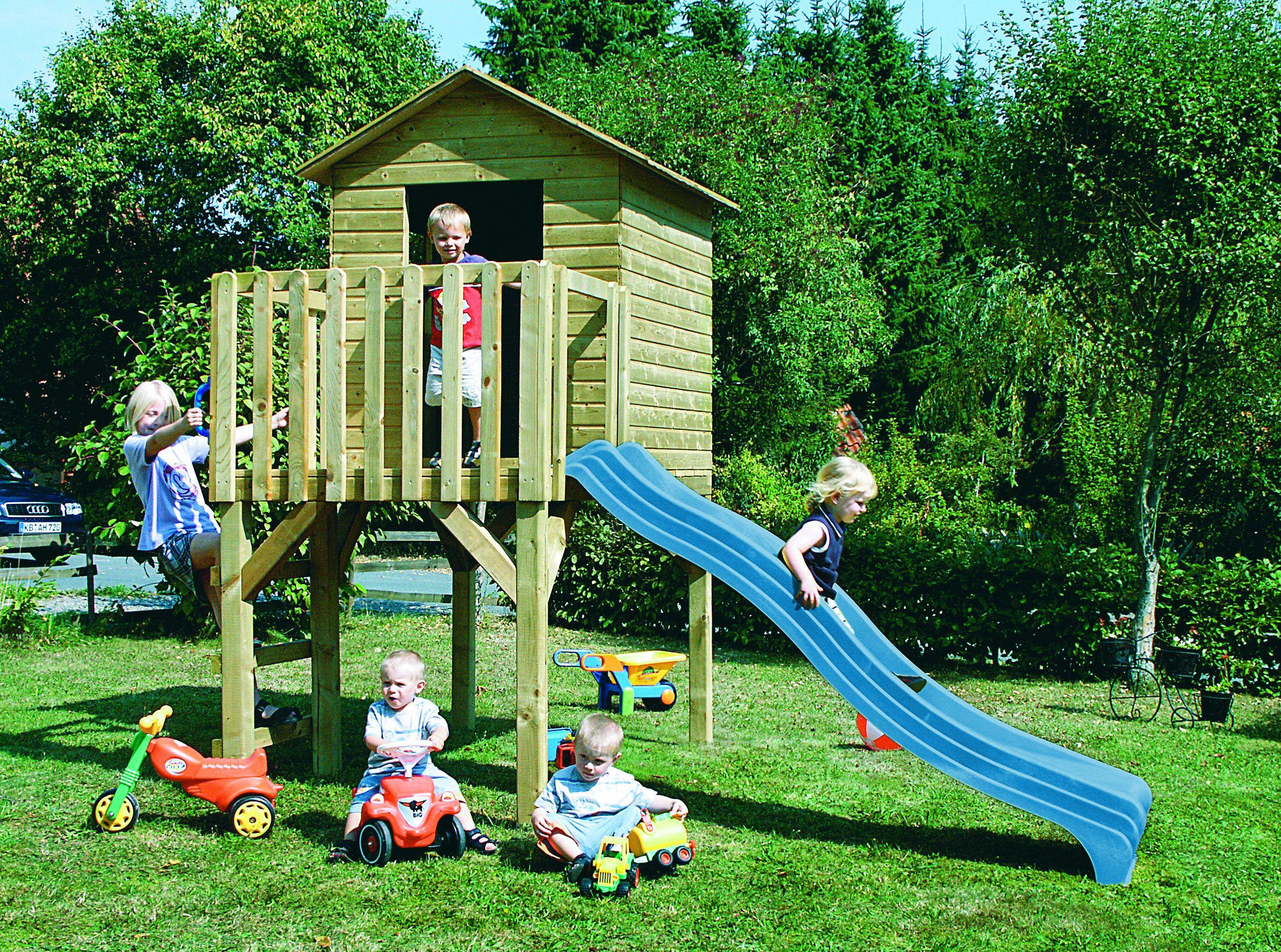 Kinderspielhaus Moritz Mit Rutsche Kinderspielhaus Spielgerat Spielturm