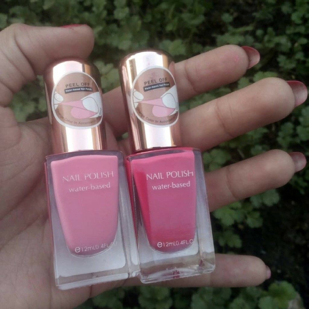 Hello Lovelies So Today I M Gonna Review These Two Water Based Peel Off Pink 03 And 04 Nail Polishes By Miniso Japan The Colors Are So Nice And These Nail